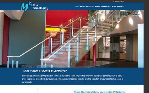 Screenshot of Home Page m3glass.com - - M3 Glass Technologies - captured Dec. 12, 2015