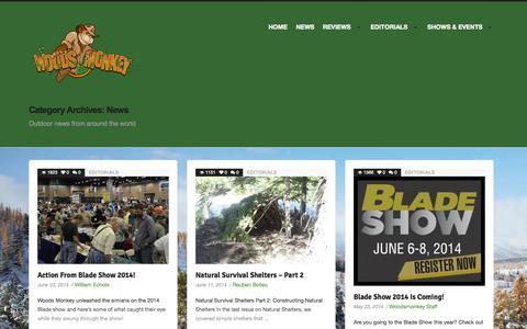 Screenshot of Press Page woodsmonkey.com - News | Woods Monkey - captured Oct. 7, 2014