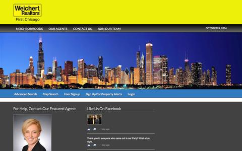 Screenshot of Home Page weichertfirst.com - WEICHERT, REALTORS® - First Chicago - Chicago Real Estate Brokers - captured Oct. 9, 2014