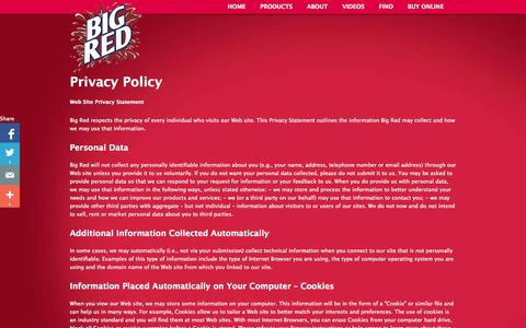 Screenshot of Privacy Page bigred.com - Privacy Policy   Big Red - captured Oct. 5, 2014