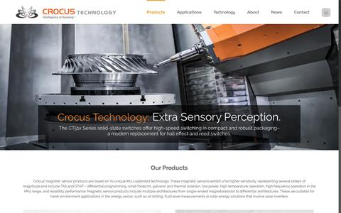 Screenshot of Products Page crocus-technology.com - Products | Crocus Technology | Magnetic Sensors - captured May 9, 2017