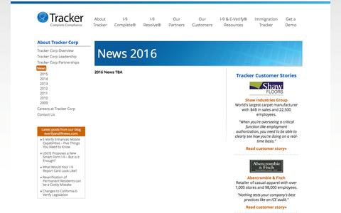 2016 News - I-9 compliance, E-Verify and Immigration Management | Tracker Corp