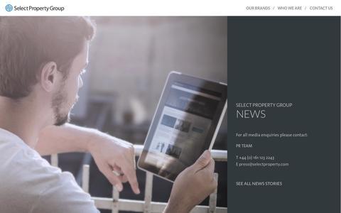 Screenshot of Press Page selectpropertygroup.com - Select Property Group News : Select Property Group - captured Nov. 5, 2014