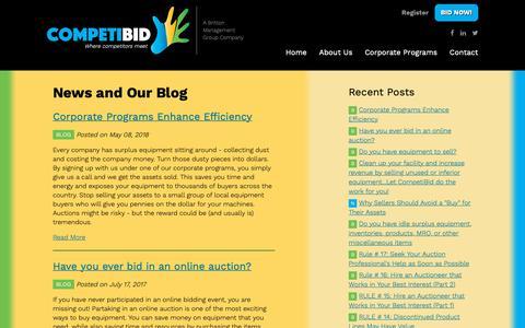 Screenshot of Press Page brittonmg.com - News and Our Blog | CompetiBid - captured Nov. 13, 2018