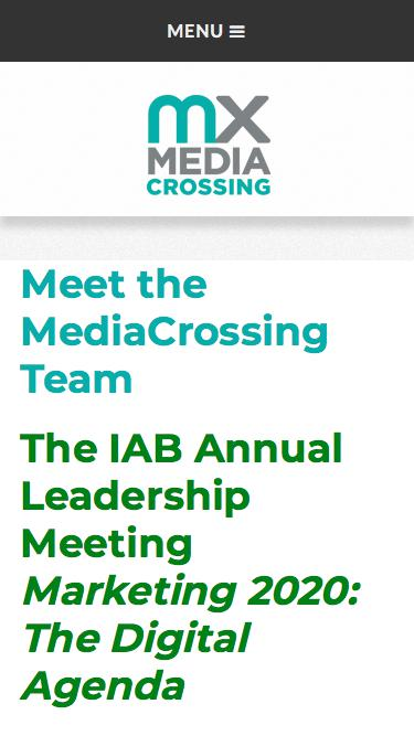 Screenshot of Team Page  mediacrossing.com - Meet the MediaCrossing Team | MediaCrossing