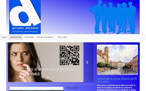 Screenshot of Blog dedalo.com.es captured Nov. 1, 2014