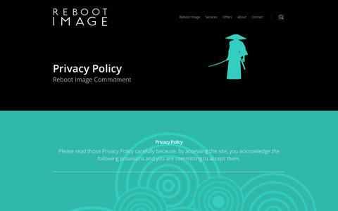 Screenshot of Privacy Page rebootimage.com - Privacy Policy Reboot Image - WordPress Web Agency. - captured Oct. 26, 2014