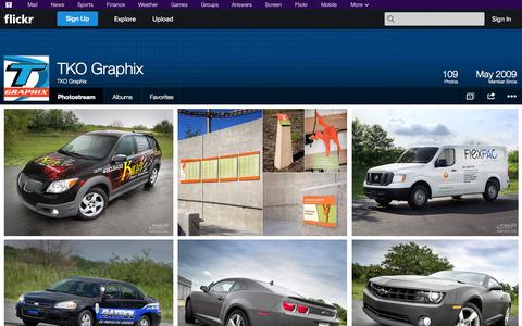 Screenshot of Flickr Page flickr.com - Flickr: TKO Graphix's Photostream - captured Oct. 26, 2014