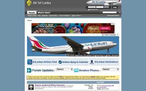 Screenshot of Home Page airsrilanka.org - Air Sri Lanka Forum - captured Dec. 7, 2018