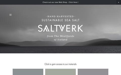 Screenshot of Press Page saltverk.com - Press — SALTVERK - Hand harvested sustainable sea salt from the Westfjords of Iceland - captured May 27, 2017