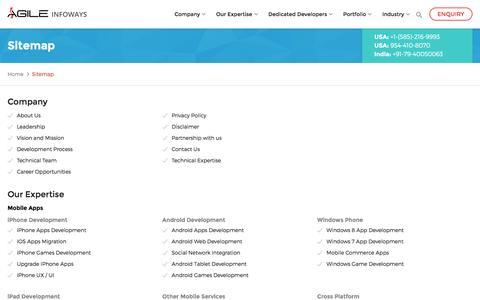 HTML Sitemap AgileInfoways - Explore Website URL Detail Structure, Creator, SEO, Examples