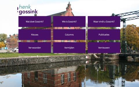 Screenshot of Home Page gossink.nl - Gossink en | Stijl en sturing en strategie - captured Oct. 3, 2014