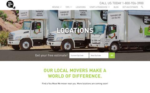 Screenshot of Locations Page youmoveme.com - Locations Near You! | You Move Me - captured July 13, 2017