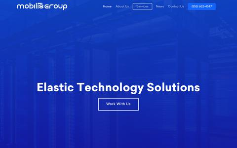 Screenshot of Home Page mobilisgroup.com - Mobilis Group – Data & Analytic Solutions - captured Oct. 19, 2018