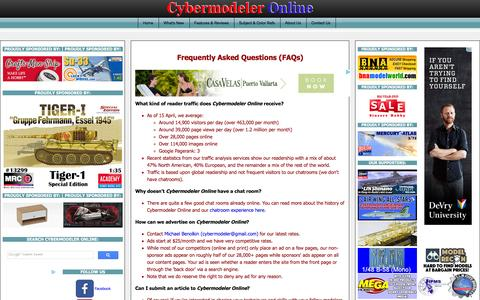 Screenshot of FAQ Page cybermodeler.com - Frequently Asked Questions (FAQs) - captured Feb. 2, 2016