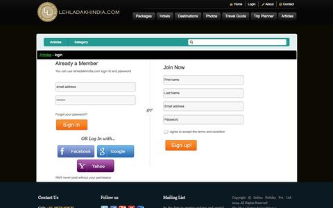 Screenshot of Login Page lehladakhindia.com - Login Panel | - captured Sept. 19, 2014