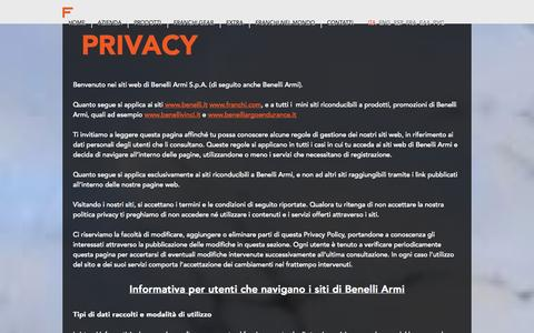Screenshot of Privacy Page franchi.com - Privacy - captured Sept. 30, 2014