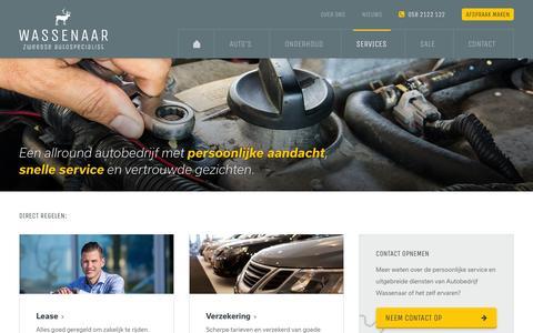 Screenshot of Services Page zweedse-auto.nl - Services - Autobedrijf Wassenaar Leeuwarden - captured Jan. 28, 2016