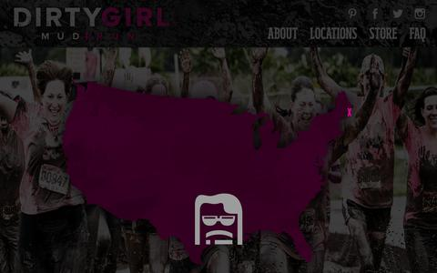 Screenshot of Locations Page godirtygirl.com - Locations | Dirty Girl Mud Run - captured Oct. 9, 2018