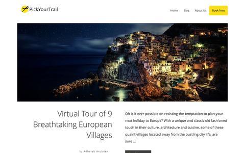 Screenshot of Blog pickyourtrail.com - PickYourTrail Blog - Stop Touring. Start Travelling. - captured Dec. 1, 2015