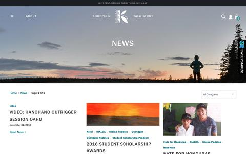 Screenshot of Press Page kialoa.com - News                       - KIALOA - captured Nov. 27, 2016