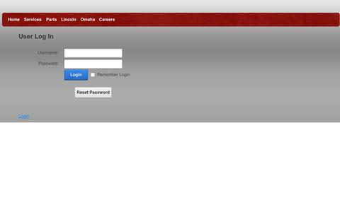 Screenshot of Login Page andysappliance.net - User Log In - captured Oct. 4, 2014