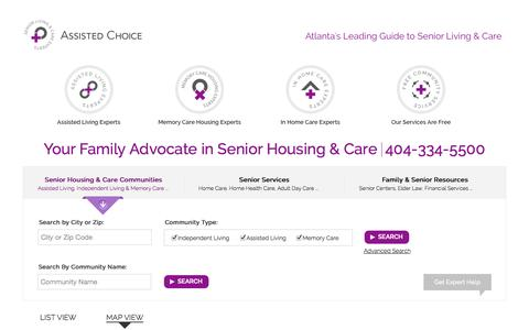Screenshot of Maps & Directions Page assistedchoice.com - Assisted Choice   Senior Living Experts - captured Sept. 30, 2014