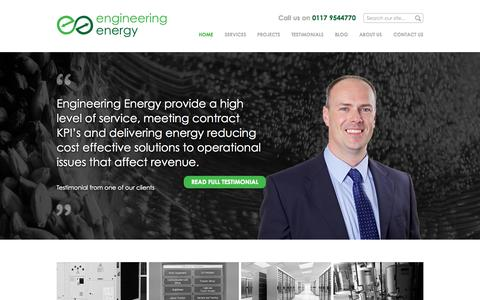 Screenshot of Home Page engineering-energy.co.uk - Home - Engineering Energy - captured June 17, 2015