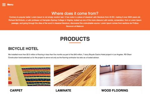 Screenshot of Products Page floorserve.co.uk - Products – Floorserve Commercial Flooring Site - captured Oct. 10, 2018
