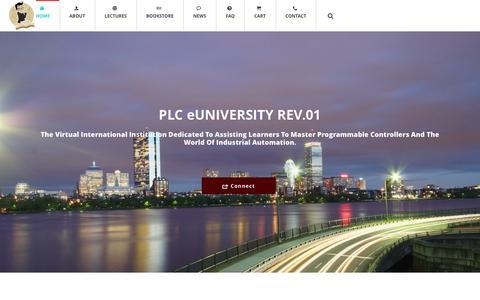 Screenshot of Home Page plcprofessor.com - Home - PLC Professor - captured Sept. 26, 2014