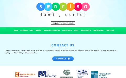 Screenshot of Contact Page sonrisafamilydental.com - Contact Little Village Dentist | Contact Dentist in Gage Park | Back of the Yards Contact Dentist - captured June 15, 2017