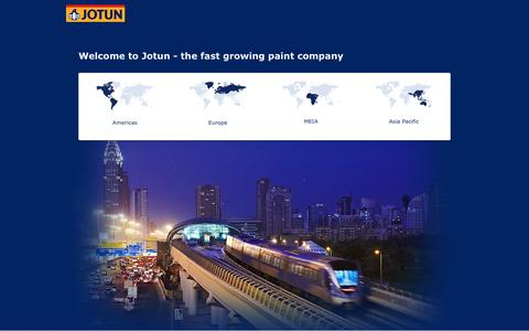 Screenshot of Home Page jotun.com - Jotun - captured Aug. 7, 2016