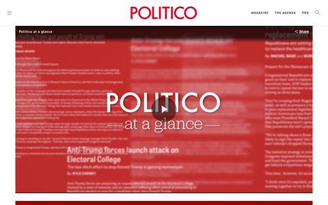 Screenshot of Jobs Page politico.com - POLITICO Careers - POLITICO - captured July 12, 2018