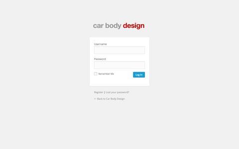Screenshot of Login Page carbodydesign.com - Car Body Design › Log In - captured July 15, 2015