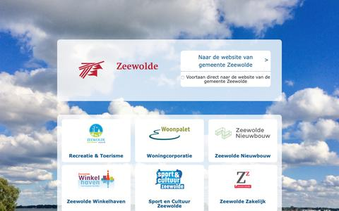 Screenshot of Home Page zeewolde.nl - Home - Gemeente Zeewolde - captured Sept. 27, 2018