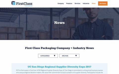 Screenshot of Press Page firstclasspack.com - First Class Packaging Company & Custom Packaging Industry News - captured Oct. 13, 2017