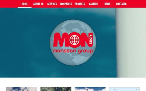 Screenshot of Home Page monsson.eu - Monsson Group | Nature, the only solution! - captured Oct. 9, 2014
