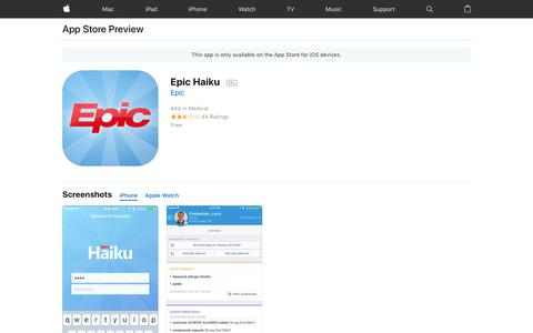 Epic Haiku on the App Store