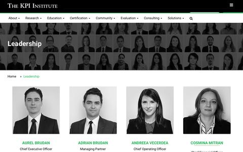 Screenshot of Team Page kpiinstitute.org - Leadership | The KPI Institute - captured June 22, 2017
