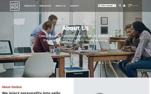 Screenshot of About Page hotbox-storage.com - About Us - Aglie Working Storage US store  - Hotbox Storage - captured Nov. 11, 2018
