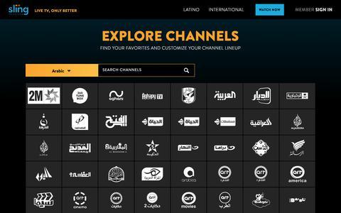 Screenshot of Pricing Page sling.com - Sling TV | Channels - captured July 10, 2018