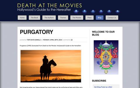 Screenshot of Blog deathatthemovies.com - Blog :: Death at the Movies - captured May 24, 2016