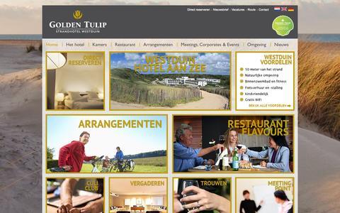 Screenshot of Home Page westduin.nl - Golden Tulip Strandhotel Westduin | Boek voordelig online - captured Sept. 18, 2015