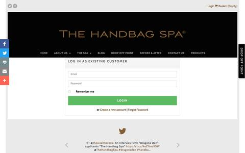 Screenshot of Login Page thehandbagspa.com - Login - The Handbag Spa - captured Nov. 30, 2016