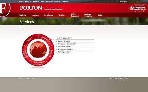 Screenshot of Services Page forton.bg - Services «  Forton - captured Sept. 30, 2014