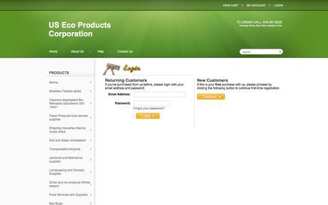 Screenshot of Login Page usecoproducts.com - Login - captured Nov. 19, 2016