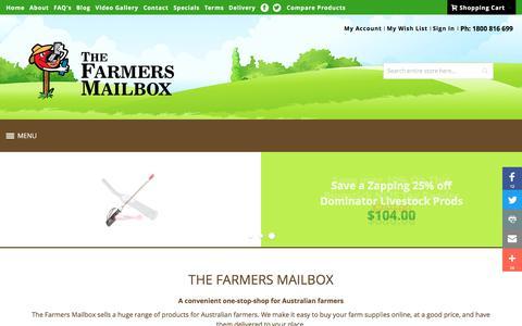 Screenshot of Home Page fmb.com.au - The Farmers Mailbox | Homepage - captured April 14, 2018