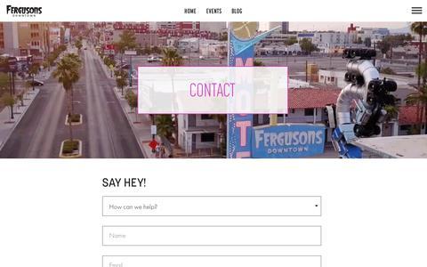 Screenshot of Contact Page fergusonsdowntown.com - Contact - Fergusons Downtown - captured May 17, 2019