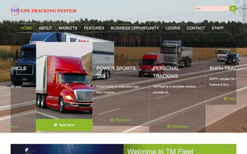 Screenshot of Home Page tmfleet.com - TM Fleet GPS Tracking | , Telematics, GPS Tracking , asset Tracking, rental equipment tracking - captured Feb. 16, 2016