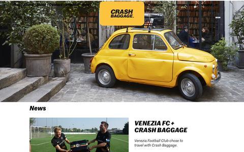 Screenshot of Press Page crashbaggage.com - News - Crash Baggage® - captured May 12, 2017